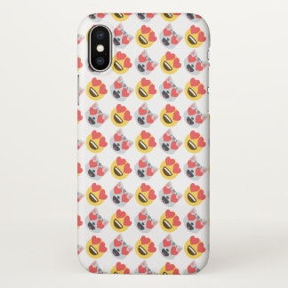 Coque iPhone X Girly mignon dans le motif d'Emoji de chat de