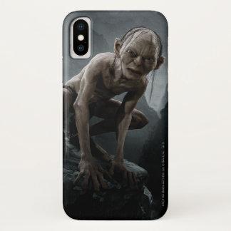 Coque iPhone X Gollum sur une roche