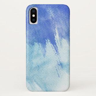 Coque iPhone X grand arrière - plan d'aquarelle - peintures