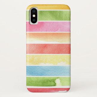 Coque iPhone X grand arrière - plan d'aquarelle - peintures 2