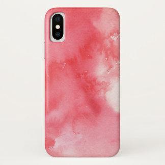 Coque iPhone X grand arrière - plan d'aquarelle - peintures 3