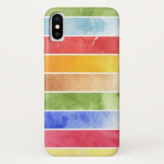 Coque iPhone X grand arrière - plan d'aquarelle - peintures 5