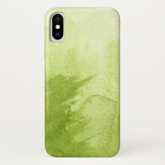 Coque iPhone X grand arrière - plan d'aquarelle - peintures 7
