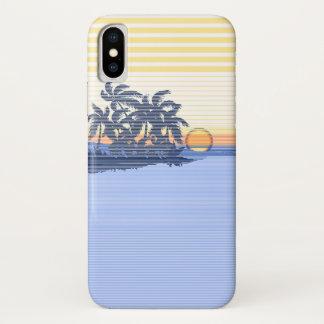 Coque iPhone X Grand Hawaïen de rayure de coucher du soleil