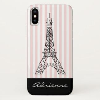 Coque iPhone X Griffonnage chic de Tour Eiffel de Paris