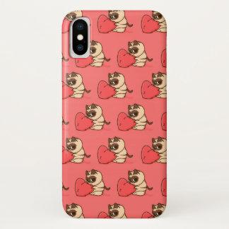 Coque iPhone X Grumpy cat Love