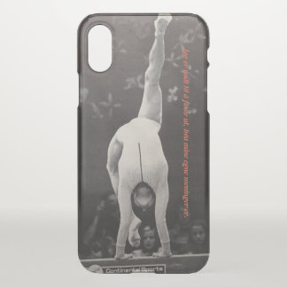 Coque iPhone X gymnastique
