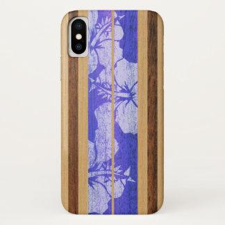 Coque iPhone X Hawaïen de planche de surf de Haleiwa