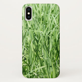 Coque iPhone X Herbe verte