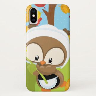 Coque iPhone X Hibou de thanksgiving - 1
