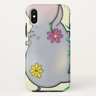 Coque iPhone X hippopotame hippie mignon