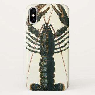 Coque iPhone X Homard vintage, crustacé marin de la vie d'océan