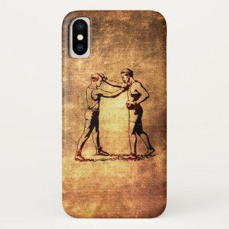 Coque iPhone X Hommes vintages de boxe