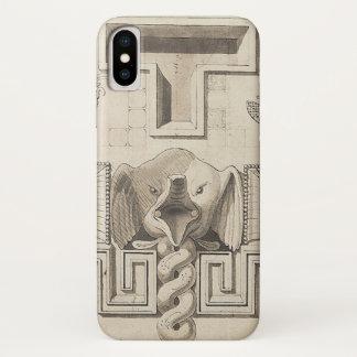 Coque iPhone X Hurlement d'éléphant (appliquez la conception à