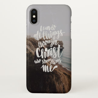 Coque iPhone X I JO all can thing through Christ