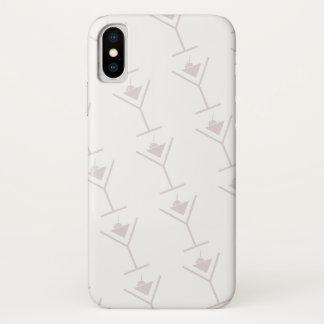 Coque iPhone X Icône de Martini (blanche)