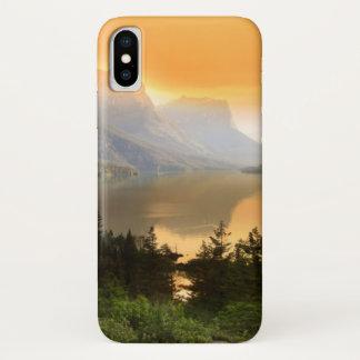 Coque iPhone X Île sauvage d'oie en parc national de glacier
