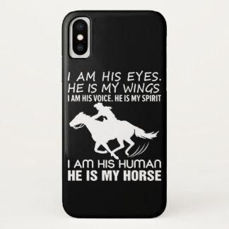 Coque iPhone X Im humain il est des femmes d'équitation de cheval