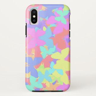 Coque iPhone X iPhoneX coloré de motif d'illustration de papillon