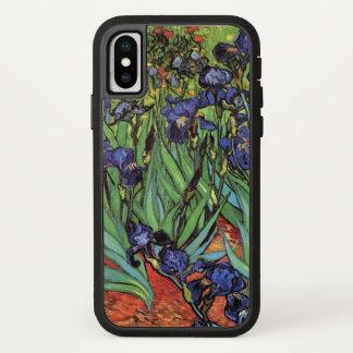 Coque iPhone X Iris de Van Gogh, beaux-arts vintages de jardin