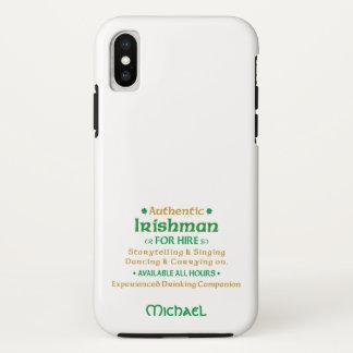 Coque iPhone X Irlandais authentique pour la location drôle