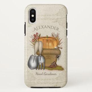 Coque iPhone X Jardinage mignon d'automne