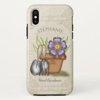 Coque iPhone X Jardinage mignon d'été