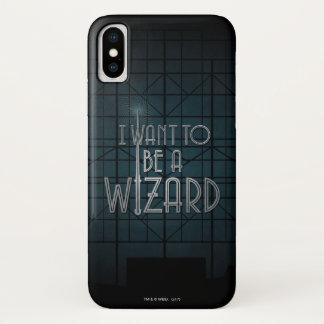Coque iPhone X Je veux être un magicien