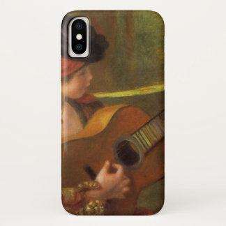 Coque iPhone X Jeune femme espagnole avec une guitare par Pierre