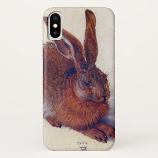 Coque iPhone X Jeunes lièvres par Albrecht Durer, beaux-arts de
