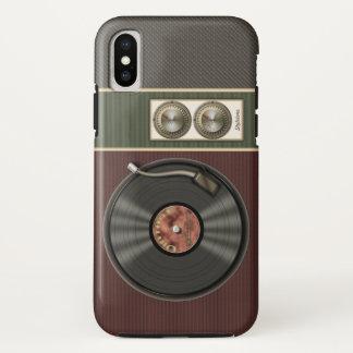 Coque iPhone X Joueur vintage drôle de disque vinyle