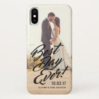 Coque iPhone X Jour de photo de mariage le meilleur jamais pour
