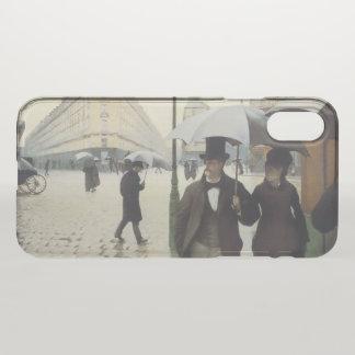 Coque iPhone X Jour pluvieux de rue de Paris