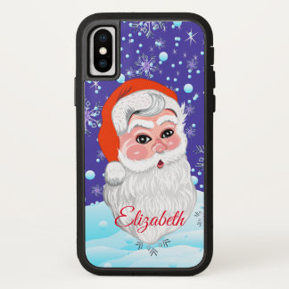 """Coque iPhone X Joyeux Noël mignon du """"père noël et de chutes de"""