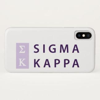 Coque iPhone X Kappa de sigma empilé