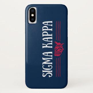 Coque iPhone X Kappa Etats-Unis de sigma