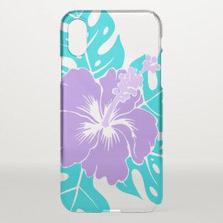 Coque iPhone X Ketmie hawaïenne de plage de Banzai florale -