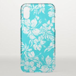 Coque iPhone X Ketmie Pareau Aloha - Turq floral hawaïen