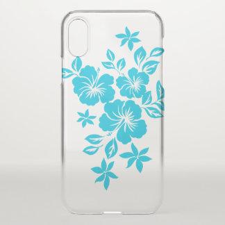 Coque iPhone X Ketmie Turq floral hawaïen de Lilikoi