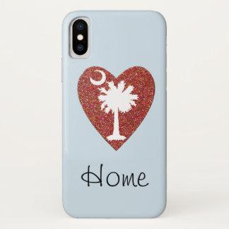 """Coque iPhone X La Caroline du Sud """"à la maison"""" est où le coeur"""