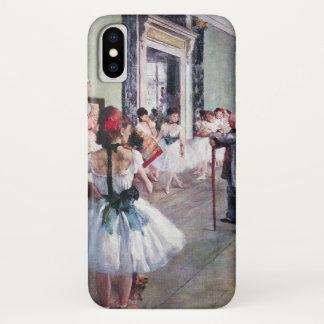 Coque iPhone X La classe de danse par Edgar Degas, art vintage de