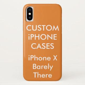 Coque iPhone X La coutume a personnalisé la caisse de l'iPhone X