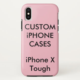 Coque iPhone X La coutume a personnalisé la caisse dure dure de