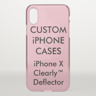 Coque iPhone X La coutume a personnalisé le modèle vide de cas de