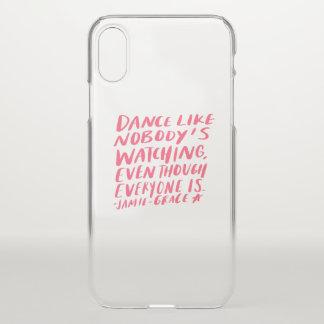 Coque iPhone X la danse aiment personne qui observe, quoique