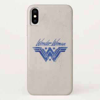 Coque iPhone X La femme de merveille a empilé le symbole