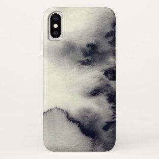 Coque iPhone X La peinture abstraite d'encre sur Paper| ajoutent