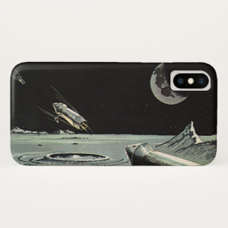 Coque iPhone X La science-fiction vintage, Rocket embarque des
