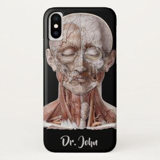 Coque iPhone X La Science humaine vintage d'anatomie, nez
