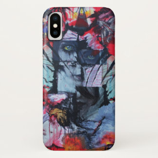 Coque iPhone X La solitude tient l'art de collage de Goth de